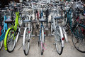 Bicycle parking a big lot for bicycles Royalty Free Stock Photos