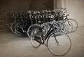 Bicycle parking city barcelona spain Stock Photos