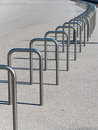 Bicycle parking stands Royalty Free Stock Photo