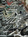 Bicycle parking lot. Royalty Free Stock Image