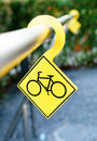 Bicycle parking lot sign background Royalty Free Stock Photos