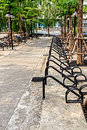 Bicycle parking lot in university campus thailand Stock Photo