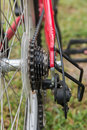 Bicycle parts. Gear bike, chain details. close-up. Royalty Free Stock Photo