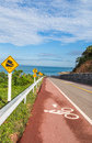 Bicycle path along the beach at thailand Stock Image