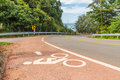 Bicycle path along the beach thailand Royalty Free Stock Images