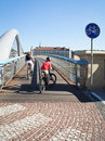 Bicycle path on a bridge Royalty Free Stock Photo