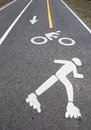 Bicycle and pedestrian path Royalty Free Stock Photo