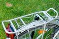 Bicycle rack closeup to silver Royalty Free Stock Photos