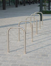 Bicycle racks Royalty Free Stock Images
