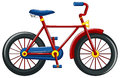 Bicycle with red frame