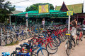 Bicycle rental in sukhotai historical park thailand aug on aug cycling is very popular way to explore this unesco site Royalty Free Stock Photos