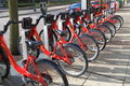Bicycle rental in washington dc capital bikeshare Royalty Free Stock Image