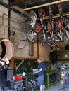 Bicycle repair shop Royalty Free Stock Photo
