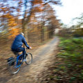 Bicycle riding in a city park Stock Photo