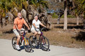 Bicycle Riding Senior Couple Stock Images
