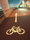 Bicycle road Royalty Free Stock Photo