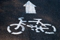 Bicycle road sign garden Royalty Free Stock Photography