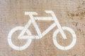 Bicycle runner and white bike symbol