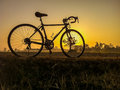 Bicycle On Rural Straw Landsca...