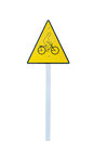 Bicycle sign isolated on white background Royalty Free Stock Photo