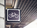 Bicycle Sign shop Cycling Store front Signage Royalty Free Stock Photo