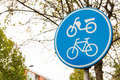 Bicycle sign with symbol Stock Photography