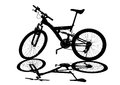 Bicycle silhouette on a white background Royalty Free Stock Photos