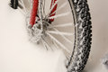 Bicycle in the snow Royalty Free Stock Photo