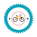 Bicycle sport emblem icon