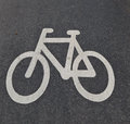Bicycle street sign Royalty Free Stock Images