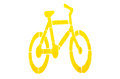 A bicycle symbol on white background Royalty Free Stock Photography