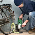 Bicycle theft Stock Photography