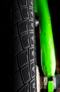 Bicycle tire close-up Royalty Free Stock Photo