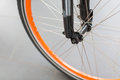 Bicycle tire and spoke wheel Royalty Free Stock Photo