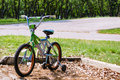 Bicycle with Training Wheels in the Park Royalty Free Stock Photo