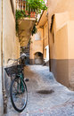 Bicycle in a Tuscan street Stock Photography