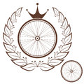 Bicycle vintage isolated objects on white background vector illustration eps Royalty Free Stock Photography