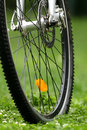 Bicycle wheel close up of Royalty Free Stock Image