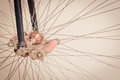 Bicycle wheel details of Stock Images