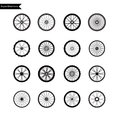Bicycle wheel icon set vector illustration eps Stock Photography