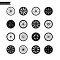 Bicycle wheel icon set vector illustration eps Stock Images