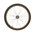 Bicycle wheel rusty isolated on white background Stock Images