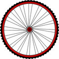Bicycle wheels Stock Photography