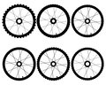 Bicycle wheels Royalty Free Stock Photo