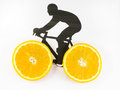 Bicycle with wheels Royalty Free Stock Photo