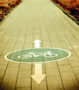 Bicycle zone road in bonn germany Stock Photography