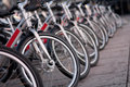 Bicycles in city environment Royalty Free Stock Photo