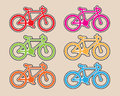 Bicycles design vector Royalty Free Stock Photo