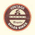 Bicycles label over white background illustration Royalty Free Stock Photos