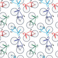 Bicycles pattern Stock Image